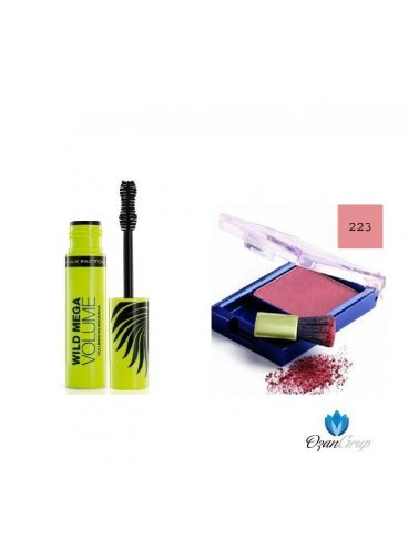 Max Factor Wıld Mega Volume Maskara ve 223 Max Factor Blush Allık