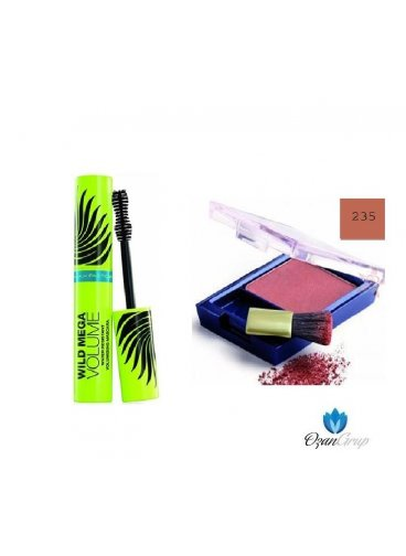 Max Factor Wıld Mega WaterProof Maskara ve 235 Max Factor Blush Allık