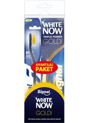 Signal White Now Gold Diş Macunu 75 ml + Orta Fırça Set